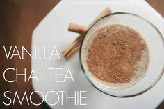 Vanilla Chai Tea Smoothie// Miranda Writes Blog// #chai