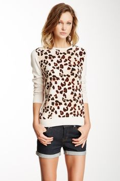 Cheetah Front Sweater by Central Park West on @HauteLook