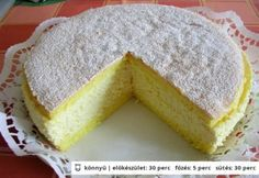 Tejszínes túrótorta Hungarian Cake, Hungarian Recipes, Cornbread, Tart, Cheesecake, Lemon, Sweets, Ethnic Recipes, Foods