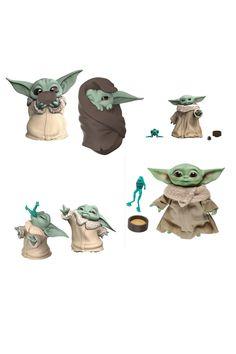 The Mandalorian  Yoda species 3d printed 6in black series both designs