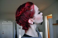 red braided hair