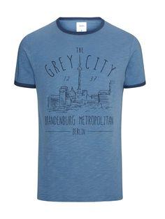 Photo 4 of Burton Blue Ringer Front Print T-Shirt