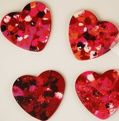 DIY heart-shaped crayons...great Valentine for kids