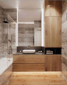 Loft House, Bathroom Inspiration, Bathroom Interior, Decoration, My Dream Home, Double Vanity, Cabinet, Sweet Home, Bathtub