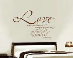 LOVE is that CONDITION in which the HAPPiNESS of Another Person is ESSENTiAL to Your Own, Robert Heinlein quote