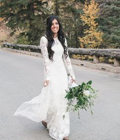 modest wedding dress with long sleeves from alta moda. -- (modest bridal gown) photo by @capturedbycourt