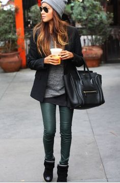 Need to get a pair of green coated jeans