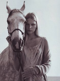 Beautiful and fair Aline Weber photographed by Richard Bush for i-D. | fashion editorial | horse | equestrian | wild | free | leather | beautiful |