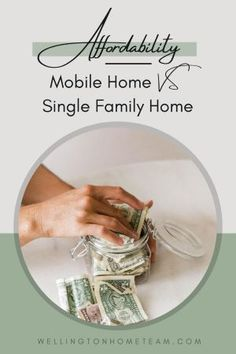 One of the benefits of a mobile home vs a single family home is affordability. Check out all of the other pros and cons to owning a mobile home. #mobilehome #realestate #homebuying