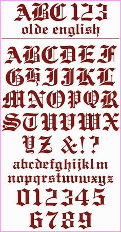 Alphabet Fonts  Free Old English Letters Fonts Alphabet