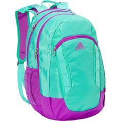 Adidas Excel Ii Laptop Backpack ($55) ❤ liked on Polyvore featuring bags, backpacks, green, green backpack, shoulder strap laptop bag, padded backpack, backpack laptop bag and green bags