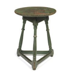 William and Marypainted tri-legged stand, Probably Bucks County, Pennsylvania, circa 1740