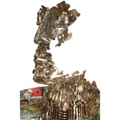Welded sculptures made from recycled materials by Brian Mock ❤ liked on Polyvore
