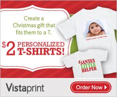 Vistaprint: Personalized T-Shirts Only $2!