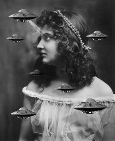 Gifs surrealistas que combinan fotos de archivo y filmaciones antiguas por Bill Domonkos