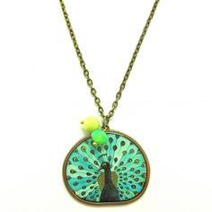 Aqua Peacock Necklace - RM19