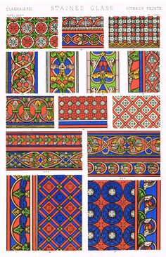 """ANTIQUE PRINT OF DESIGN This 148 year old print is from the book """"THE GRAMMAR OF ORNAMENT"""" by Owen Jones. It was published in Paris, by Day & Son Ltd. in 1868. Owen Jones (1809 – 1874) was a London-bo"""