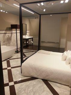 interior design camera da letto con bagno padronale incluso