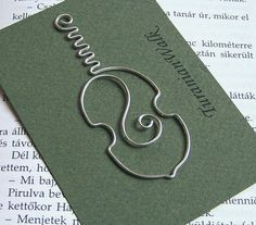 Cello - wire bookmark. $6.50, via Etsy.