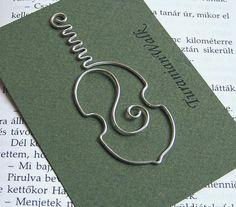 Cello - wire bookmark. via Etsy.