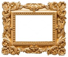Golden picture frame by LiliGraphie on @creativemarket