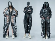 SINCRON University Graduation CollectionSincron was born from our strong conviction that the harmony of the universe is given to us by the attraction of contraries. No white if there's no black. Laser Cutting, Diana, Harem Pants, Behance, Black, Fashion, Coil Out, Moda, Harem Trousers