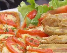 Milanesas de pencas de acelga rellenas de jamón y queso