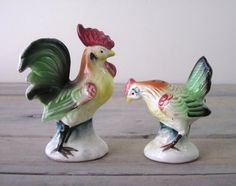Vintage Chicken Rooster Salt and Pepper Shakers by 22BayRoad, $17.00