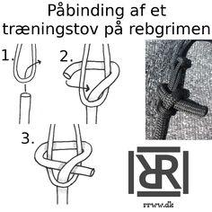Hvordan at binde en horsemanship tov med en fast end på en rebgrime.  #horsemanshipgrej #rebgrimer