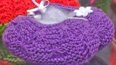 Receita de Tricô: Sapatinho Ana em trico com ponto lacinho
