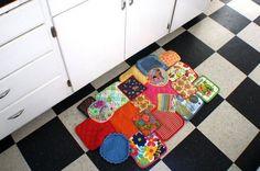 Floor Mat Made of Pot Holders