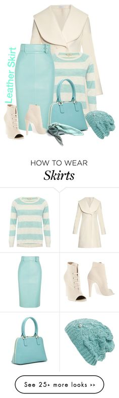 """""""Leather Skirt"""" by lorrainekeenan on Polyvore featuring мода, J.W. Anderson, M&Co, Balenciaga, Off-White, SUSU и Modena"""
