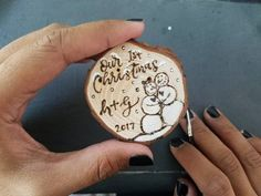 Our First Christmas SMALL Wood Slice Ornaments Stocking tags Mini 2 - 3 couples personalized wood burned painted Christmas decorations Scrabble Ornaments, Teacher Ornaments, Button Ornaments, Teacher Christmas Gifts, Hand Painted Ornaments, Personalized Ornaments, Handmade Ornaments, Ballerina Ornaments, Chalk Design