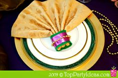 Recycle Mardi Gras beads into decorative napkin rings -