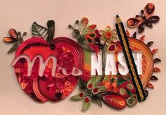 Quilling Custom Name Wall Hanging Teacher by HalcyonCreativeGifts