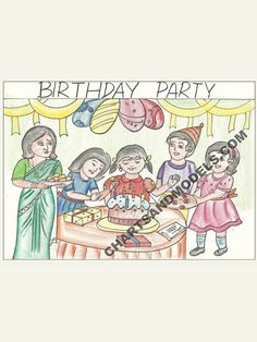 Buy Birthday Party Chart Online In Delhi Buy colorful, simple, inexpensive Birthday Party Chart Online for your children school assignments available at Online Charts And Models.