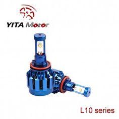 L10-Yita Blue 80W Cree 6000K LED Headlight Replacement Bulbs