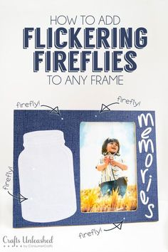 Best DIY Picture Frames and Photo Frame Ideas - DIY Flickering Firefly Picture Frame - How To Make Cool Handmade Projects from Wood, Canvas, Instagram Photos. Creative Birthday Gifts, Fun Crafts for Friends and Wall Art Tutorials http://diyprojectsforteens.com/diy-picture-frames