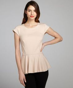 Wyatt blush jersey cap sleeve zip back peplum top Cap Sleeves, Must Haves, Peplum, Blush, Zip, Shirts, Fashion Design, Clothes, Ivory