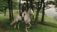 Mr Darcy, Colin Firth, astride a white horse Miss Elizabeth, Still Frame, Mr Darcy, Regency Era, Classic Literature, Chivalry, Fine Men, Pride And Prejudice, Period Dramas