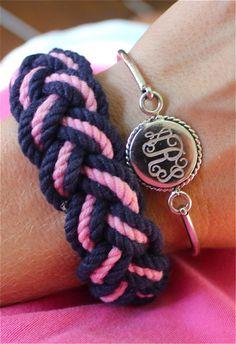 A Sterling Silver Monogram Bracelet with a Nautical Twist!   #SwellCaroline www.SwellCaroline.com