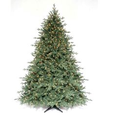 Martha Stewart Living 7.5 ft. Pre-Lit Royal Sarah Spruce Artificial Christmas Tree with SureBright Clear Lights-WAE6101/1100CSE1 at The Home...