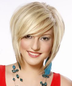 medium length angled blonde hair 2013 | stylish version of bob with layered angles and side sweep bang