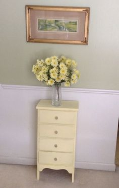 vintage shabby chic yellow chest of by missrobinsnest on Etsy