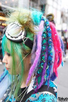 Tokyofashion / Colorful Hair Falls in Harajuku