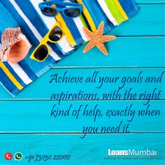 Achieve all your goals and aspirations, with the right kind of help, exactly when you need it LoansMumbai.com  For best deals dial +91 7303022000  #PersonalLoan #PersonalLoans #PersonalFinance #LoaninMumbai
