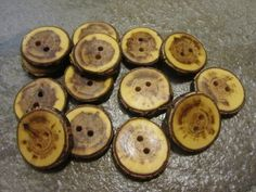 14 Hickory Wood Tree Branch Buttons. About by PymatuningCrafts, $8.40