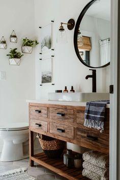 Magnificient Scandinavian Bathroom Design Ideas That Looks Cool 31 Upstairs Bathrooms, Small Bathroom, White Bathroom, Bathroom Ideas, Master Bathroom, Diy Bathroom Vanity, Neutral Bathroom, Bathroom Inspo, Bathroom Designs