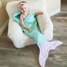 Everyone needs a mermaid blanket sack from @alexiasotelo (Whimsy Tails) on IG!
