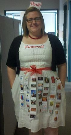 Awesome Pinterest Halloween Costume. All it took was a color printer and safety pins.  sc 1 st  Pinterest & 33 best DIY Halloween Costume - Social Media (Pinterest) images on ...